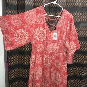 Brand new Orange Medallion dress,Torrid size 1